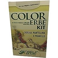 Naturerbe Color Erbe Kit Ciotola, Mantellina E Pennello