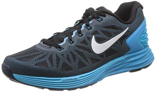 Nike W Nike Lunarglide 6 654434-500 Damen Laufschuhe Schwarz (BLACK/WHITE-BLUE LAGOON-CLRWTR 007)