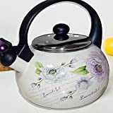 ShopyBucket Real --& Eco-friendly Flower Printed Handmade Glazed Teapot For Serving Tea Or Coffee In Style 2.5L 1pc