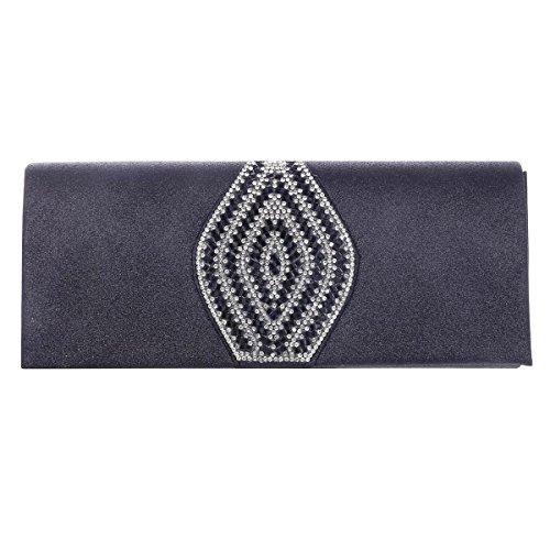 Damara® Adlige Damen Gleißend Abend Handtaschen Mit Strassstein Schwarz