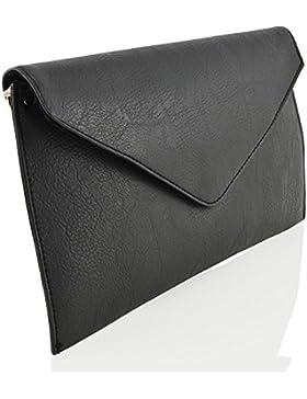 ESSEX GLAM Damen Umschlagtasche Abendtasche Synthetic Lederhandtasche