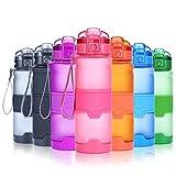 Grsta Bottiglia d'Acqua Sportiva Senza BPA - Riutilizzabile Borraccia in plastica tritan 1000ml/32oz, Ideale Bottiglie per Bambini, Scuola, Ufficio, Bici, Calcio, Fitness, Yoga, borracce (Rosa)