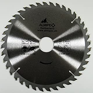 Almipex HM Kreissägeblatt Ø 190 x 32 mm mit 40 Zähne (Reduzierring 30 mm)
