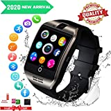 Smartwatch,Bluetooth Smart Watch con Camera Orologio Intelligente Orologio Cellulare Impermeabile con SIM Card Slot Per Android IOS Huawei Samsung Phone XS XR X11 X10 X8 S9 S8 S7 Uomo Donna