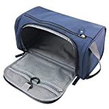 Hanging Toiletry Bag, JTDEAL Portable Make Up Cosmetic Bags Organiser/ Travel Bag for Men Women & Kids, Rugged & Water Resistant with Mesh Pockets & Sturdy Hook (Navy Blue)