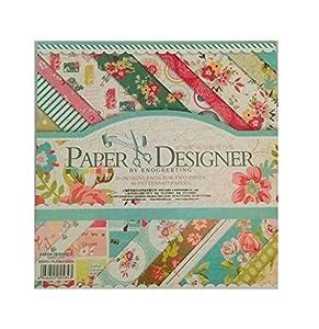 Disok- Block 40 láminas primavera / 20 diseños, Multicolor (9693)