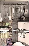 Mture Gardinenringe Duschringe Duschvorhangringe Edelstahl Aufhängeringe Duschvorhanghaken mit Gleitsystem aus Metall Shower Curtain Rings 12 Stück - 7