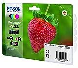 Epson Original T2996 Erdbeere, Claria Home Tinte XL, Text- und Fotodruck (Multipack, 4-farbig) (CYMK) Vergleich