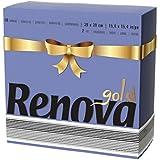 Renova serviettes de papier gold bleu–40serviettes–[Pack de 5]