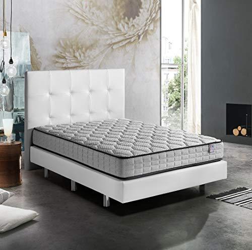 Memory Sens Visco Memory Foam Matratze 150 x 190 cm.  und 22 cm.  der Höhe |  Reversibel (verschiedene Maßnahmen)