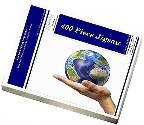 Photo Jigsaw Puzzle of Male hand holding Earth globe
