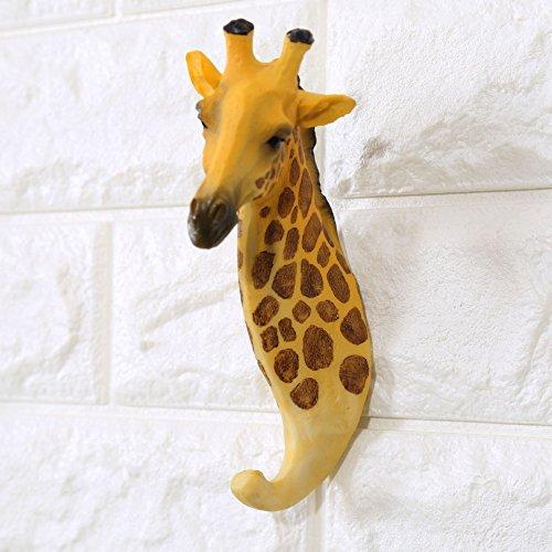 stharz und Eisen Rustikal Vintage Wandhaken Rack mit Haken giraffe ()