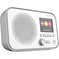 Pure Elan E3 Portable Digital DAB/DAB+/FM Digital Radio with Alarm, Colour Screen, AUX Input, Headphones Output and 40 Station Presets – Portable Radio/Portable DAB Radio – Grey