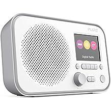 Pure Elan E3 Portable Digital DAB/DAB+ and FM Radio with Alarm - Colour Screen - Battery / Mains Powered - Grey