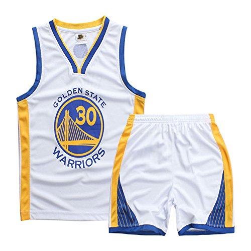 Sokaly Niños Chicago Bulls Jorden # 23 Curry#30 James#23 Conjunto de Camiseta de Baloncesto Chaleco & Pantalones Cortos Cómodo para Chicos y Hombres (L(130-140), Blanco02)