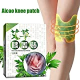 Aaffiry 12Pcs Knee Moxa Hot Moxibustion Plaster, Self Heating Leg Warming Meridians Joint Pain Patches, Pain Relief Wormwood Sticker for Women