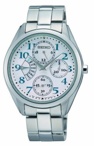 Seiko Damen-Armbanduhr XS Damenuhren Analog Quarz Edelstahl SRL051P1