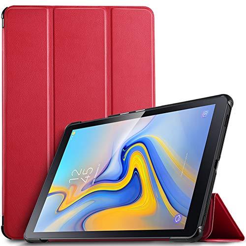 IVSO Hülle für Samsung Galaxy Tab A 10.5 SM-T590/T595, Slim Schutzhülle mit Auto Aufwachen/Schlaf Funktion Ideal Geeignet für Samsung Galaxy Tab A SM-T590/SM-T595 10.5 Zoll 2018, Rot