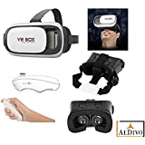 "ALDIVO ® VR BOX, With Bluetooth Controller, Virtual Reality Headset Version 2.0 . 3D Glasses Adjust Cardboard Vr Box For 3.5~6.0"" Mobiles"