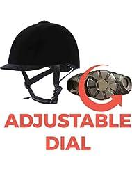 RIF Adjustable VG1 Horse Riding Hat/Helmet 52-61cm BLACK VELVET