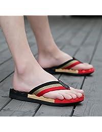 Männer und Frauen Flip Flops, Sommer Herren beach Sandalen, große Werften Slip Grip Hausschuhe, Fünfundvierzig, schwarz