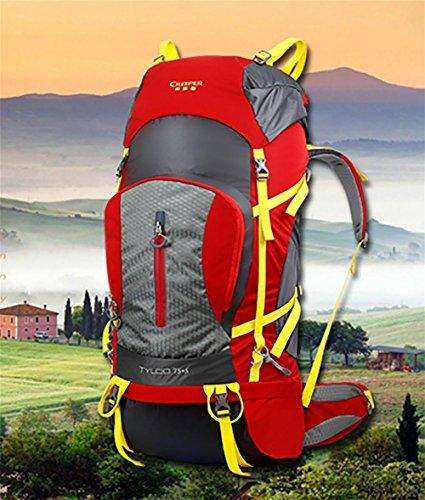 ROBAG All'aperto arrampicata borsa zaino grande borsa a spalla New Pack 80 l , red red