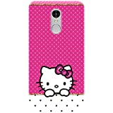 Redmi Note 5 Back Cover / Colorful Designer Case For Redmi Note 5 / TPU Soft Silicon UV Printed Cover For Redmi Note 5 / Durable / Flexible / Hello Kitty Pink Cute Girl Girly Printed Cover