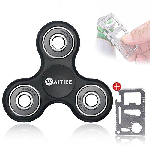 Waitiee-Fidget-Hand-Spinner-Roulement-En-acier-Haute-Vitesse-Tourne-1-Minute-Jeu-Sensoriel-Tri-Spinner-Fidget-Toy-Enfant-ou-Adulte-black