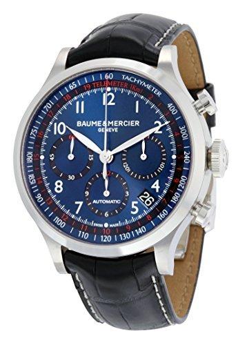 Baume et Mercier Chronograph Automatisch Mercier Herren Baume Uhr Blau Zifferblatt und