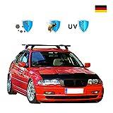 Haubenbra Schwarz Für 3er E46 Sedan/Touring (1998-2001) Tuning Steinschlagschutz Maske