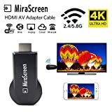 Umiwe Wireless Dongle HDMI Adapter 2.4GHz WLAN Dongle HDMI Display Adapter 1080P HD Unterstützung DLNA Airplay Miracast für Mac/Android/ Windows 8.1 10/ iPhone/iPad - Keine App