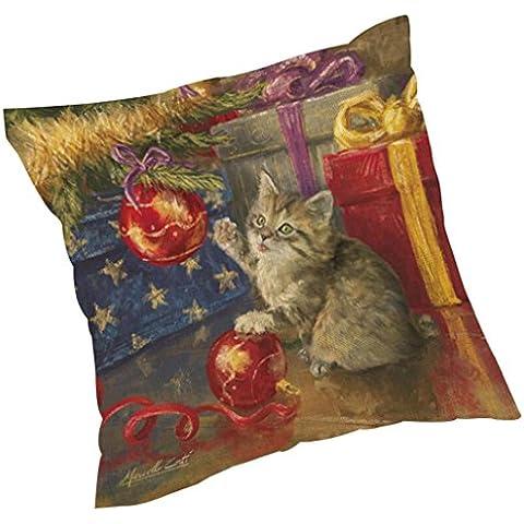 ZARU Impresión de Navidad Sofá cama cubierta de almohadas Cojín decoración del hogar (G)