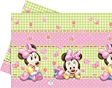 Disney Unique Party 71991 Tischdecke, Kunststoff, Baby Minnie Mouse, 1,8 x 1,2 m