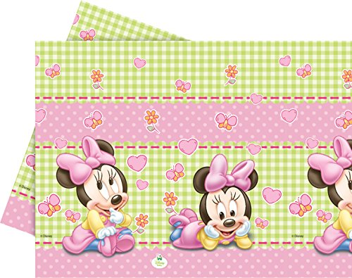 Disney Unique Party 71991 Tischdecke, Kunststoff, Baby Minnie Mouse, 1,8 x 1,2 m - Minnie Maus-party Dekorationen