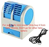 #2: Hunk Mini Fan And Portable Dual Bladeless Small Air Conditioner Water Air Cooler Powered By Usb And Battery Use Of Car|Home|Office (Color May Vary)