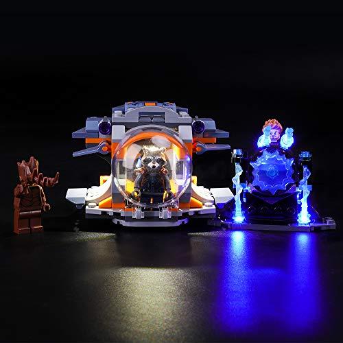 LIGHTAILING Conjunto de Luces (Super Heroes Aventura Tras el Arma de Thor) Modelo de Construcción de Bloques - Kit de luz LED Compatible con Lego 76102 (NO Incluido en el Modelo)