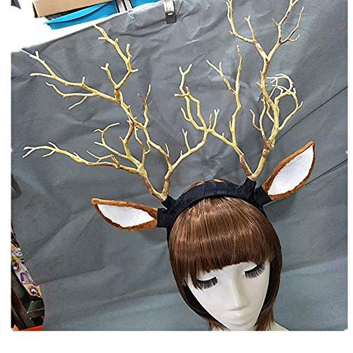 Kostüm Schaf Ohren - Changlesu Steampunk Deadwood Horn Stirnband Schafe Ohren Cosplay Kopfschmuck Halloween Lolita Phantasie Kopfschmuck (Ohren)