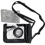 Etui Housse de protection imperméable et hermétique noir - accès déclencheur et cordon réglable - DURAGADGET pour appareils photos Sony ILCE-QX1, Cyber-Shot DSC-TX30 & DSC-WX220