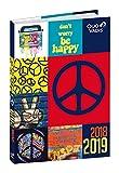 Quo Vadis Love & Peace EUROTEXTAGENDA Agenda scolaire Journalier 12x17cm Année 2018-2019