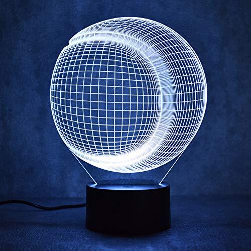 Baseball Softball Licht 3D Usb Vision Anzeige Farbe Nachttischlampe Schönes Schlafzimmer Nachttischlampe Lampara Schlaf Nachtlicht (Anzeigen Baseball)
