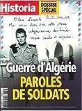 Historia Mensuel N 856 Guerre d'Algérie, Paroles de Soldats - Avril 2018