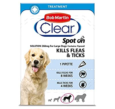 Bob Martin Flea Clear Fipronil Spot on 1 Tube for Large Dog from Bob Martin