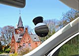 MERES Diametro 85mm Diametro Specchietto per auto Ampio angolo di visione Sedile posteriore regolabile Osservare lo specchio per il bambino Vista frontale Specchietto di sicurezza (Nero)