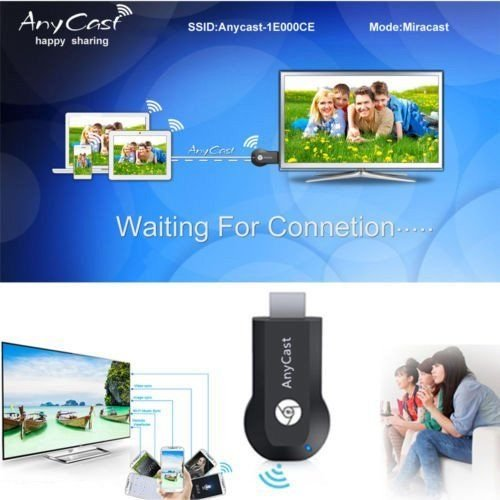 Aventus (Streaming Dongle) Samsung Galaxy S7 Edge Adattatore HDMI Chiavetta Dongle WiFi Streaming Ricevitore TV Stick Supporto Miracast AirPlay DLNA AirMirroring Streaming Dongle