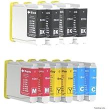 10 Colour Direct LC970 / LC1000 Impresora Cartuchos de Tinta Para Brother DCP-130C / DCP-135C / DCP-150C / DCP-155C / DCP-330C / DCP-350C / DCP-375C / DCP-540CN / DCP-560CN / DCP750CW / DCP-770CW / Brother MFC-230C / MFC-235C / MFC-240CN / MFC-240C / MFC-260C / MFC-440CN / MFC-465CN / MFC-660CN / MFC-665CW / MFC-680CN / MFC-685CW / MFC-345CW / MFC-885CW / MFC-3360C / MFC-5460CN / MFC-5860CN / Brother Fax-1360 / Fax-1355 / Fax-2480C / Fax-1460 / Fax-1560