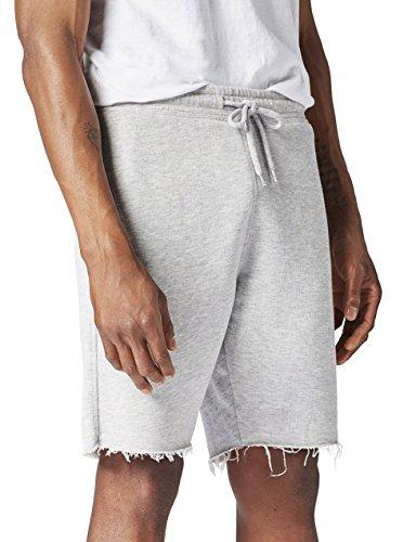 FIND Mens Short, Pantalones Cortos Deportivos para Hombre, Gris (Grey Marl), Medium