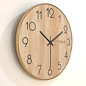 Modern And Minimalist Modern Living Room Wall Clock Creative Nordic Personalized Wooden Wood
