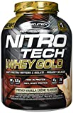 MuscleTech NitroTech Whey Gold, 100% reines Whey Protein, Whey Isolate und Peptide, Vanille, 2510 g