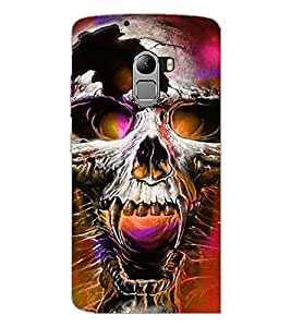 PrintDhaba Skull D-2801 Back Case Cover for LENOVO K4 NOTE A7010a48 (Multi-Coloured)
