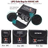 ◆L-Battery Protective Aufbewahrungstasche LiPo Safe Bag Explosionsgeschützt für DJI Mavic Air ◆ ◆Feature: ◆ ◆ 100% nagelneu. ◆ Perfekte Passform für DJI Mavic Air Battery ◆ Typ: kleine Größe (für 1 stück batterie), mittlere Größe (für 2 s...